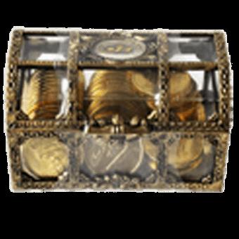 Asia Jumbo Choc Coin Gold Money Box