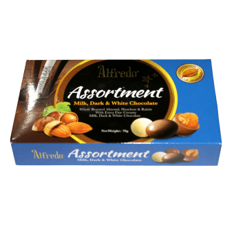 ALFREDO ASSORTMENT MILK/WHITE/DARK