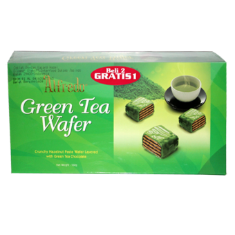 ALFREDO CUBIC WAFER GREEN TEA CHOCO