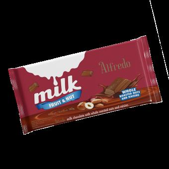 ALFREDO BAR  165g MILK FRUIT & NUT