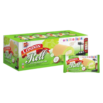 Swiss Roll Kotak Coconut Pandan